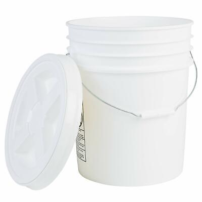 Hudson Exchange Premium 5 Gallon Bucket with Gamma Seal Lid, HDPE, White