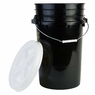 Hudson Exchange Premium 7 Gallon Bucket with Gamma Seal Lid, HDPE, Black