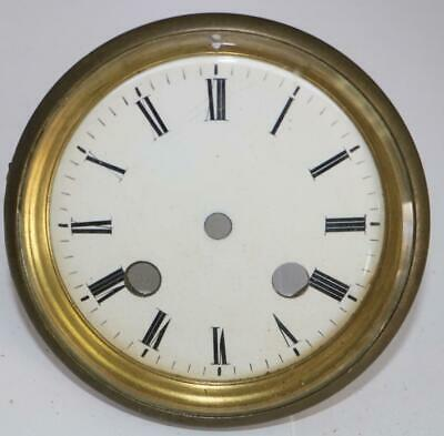 Antique French enamel Mantle Clock Dial - Clock Spares Bezel Glass Mantel Clock