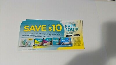 Pampers Diapers Coupons Canada Wipes Set of 10 $10 when you buy 2 Expiry June 19