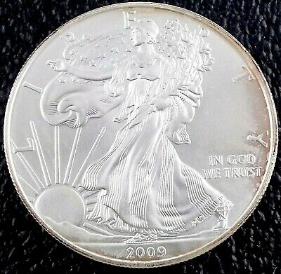2009 - American Eagle - 1 oz Silver - US One Dollar Coin ~#1244