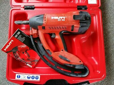 HILTI GX 100 Gas Fully Automatic Fastening Nail Gun Metal Wood Concrete