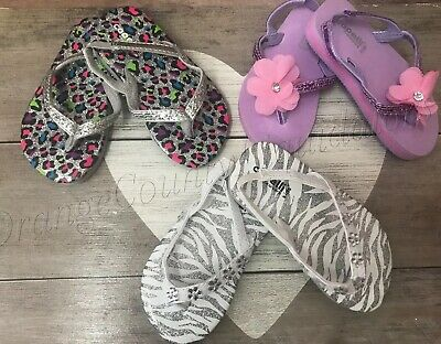 Baby Girl Toddler sandals Capelli New York set of 3 size 6-7  Slingback shoes