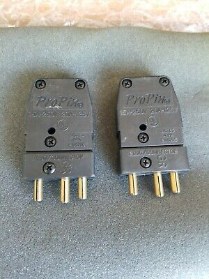 ProPin Stage Pin Plug Connector 15 Amps 250 Volts 20 Amps 125 Volts lot of 2