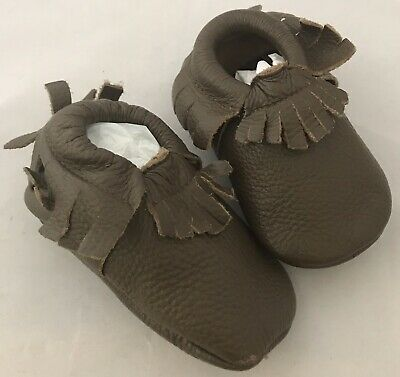 Genuine Leather Moccasins Shoes For Baby  Size 5 For 12-18 M Walkers