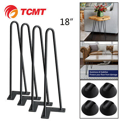 "18"" Industry Hairpin Coffee Table Leg Solid Iron Metal Bar Desk Legs Set of 4"