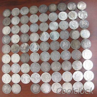 80 Pc Lot Morgan Silver One Dollar $1 Coins Old Used Circulated Ungraded #Y750