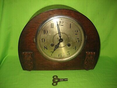 Wooden  Mantle Clock  with Key