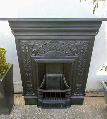 Stunning Cast Iron Combination Fireplace Complete