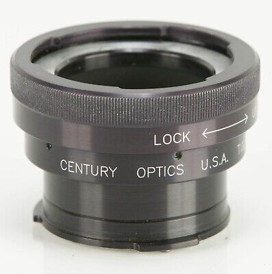 "Century Optics XF-212B MKII 2X converter for 1/2"" video camera lens"