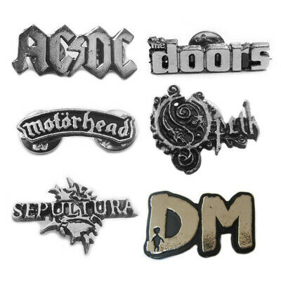 AC DC / The Doors / Motorhead / Opeth / Sepultura rare metal pin / Metallstift