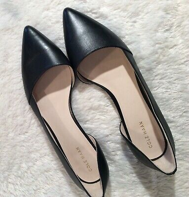665f0d69921 COLE HAAN BAMBRA Skimmer II Flats Black Leather Women s Size 8 ...