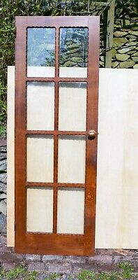 "Beautiful Craftsman Made Solid English Oak 8 Panel Glazed Door. 6'6"" x 2'3"""