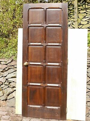 "Beautiful Craftsman Made Solid English Oak 10 Panel Door. 6'6"" x 2'6"" x 40mm"