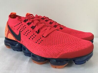 Nike Air Vapormax Flyknit 2 Red Orbit AR5406 600 New W/OUT Box DS Mens Sz 11.5