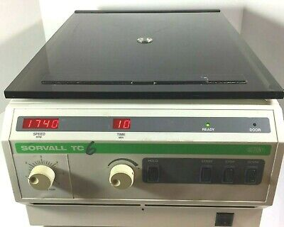 DuPont Sorvall TC6 Tabletop Centrifuge w/ Rotor & Swinging Bucket, Working!