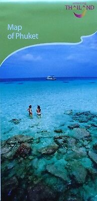 PHUKET Area Map - Main Tourist Attractions List - Free UK Postage