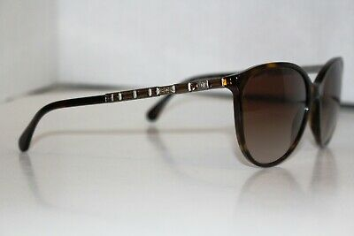 3b28009642600 CHANEL SUNGLASSES Black Beige 5312 C.943 S5 Size 57 18-135 Made In ...