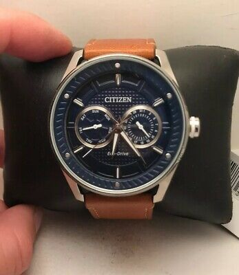 Citizen Eco Drive Mens DRIVE CTO Multifunction Blue Dial Watch BU4020-01L-H54