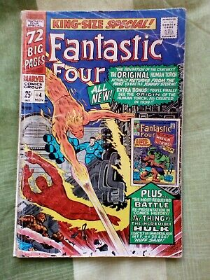 Fantastic Four King Size Special Annual 4, Fantastic Four 25,26 vs Hulk. Kirby