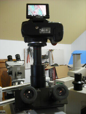 Zeiss Microscope to a Canon EOS 0.5x with 30mm phototube REBEL T1 2 3 4 5 ...