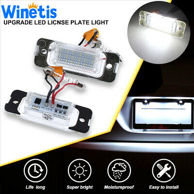 2x Car LED License Number Plate Light Lamp For Mercedes W163 W164 X164 ML GL