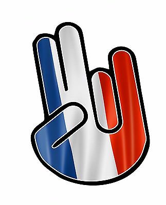 The Shocker Hand avec France Français Drapeau Du Pays Sticker Autocollant Vinyle