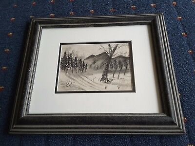 "Reginald H. Dick ""amberlea"" 2003 Signed Original Drawing. Framed Under Glass."