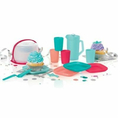 NEW TUPPERWARE KIDS 11 pc MINI PLAY PARTY SET Pitcher Tumblers Cake Taker Plates