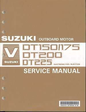 Suzuki DT150 DT175 DT200 DT225 Outboard Motor Service Repair Manual CD