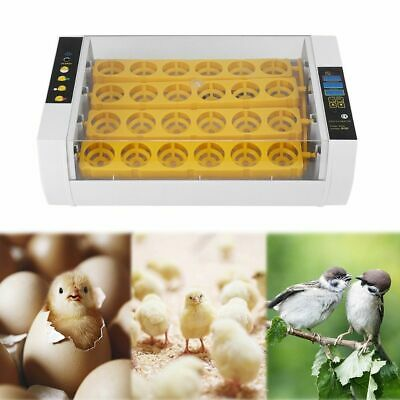 Fully Automatic 24 Digital Egg Eggs Incubator Hatcher Temperature Control 2019