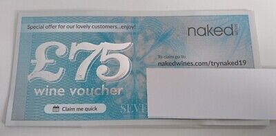 £75 Naked Wines Online Voucher - All Proceeds To Cancer Research Uk