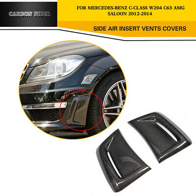 Carbon Side Fender Fin Air Intake Vents Covers for Mercedes Benz W204 C63 AMG