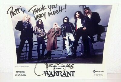 Jani Lane WARRANT Autograph 1995 Signed Publicity Photo FREE SHIPPING!