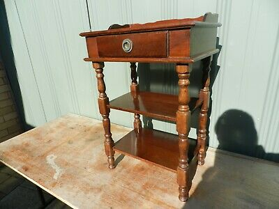 vintage timber hall table(mini) with draw & shelves