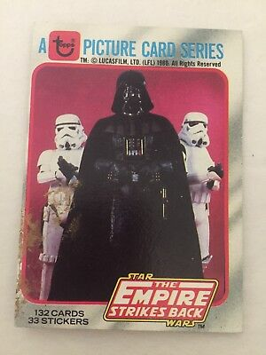 Star wars Topps trading cards 1980 Empire Strikes Back