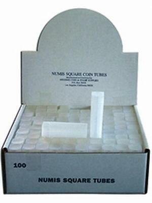 100 NUMIS Square Dime18mm Coin Tubes, coin Storage