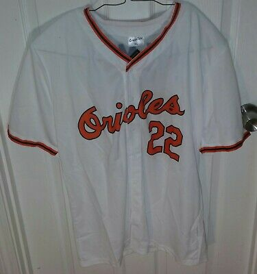 54302a470e1 New Tags Throwback BALTIMORE ORIOLES JIM PALMER  22 MLB Baseball Fan JERSEY  XL