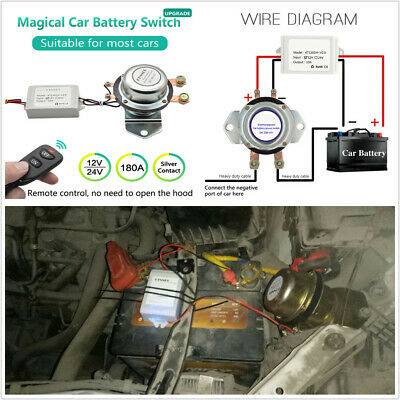 Professional Dc12v Car Off Road Battery Electromagnetic Disconnect