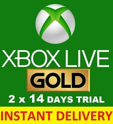 Xbox Live 1 Month Gold Trial Membership Code (2 x 14 Day) Instant Dispatch