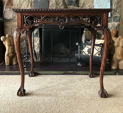 Gothic Chippendale table mahogany ball and claw feet