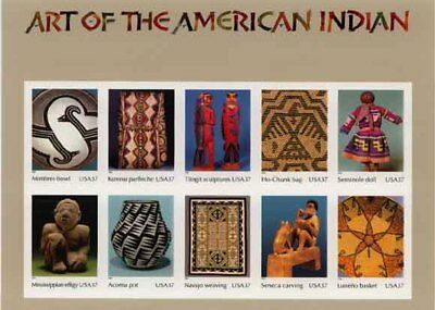 Art Of The American Indian Stamp Sheet -- Usa #3873 37 Cent 2003