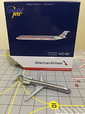 VERY RARE Gemini Jets 1:400 GJAAL547 American Airlines McDonnell Douglas MD-80