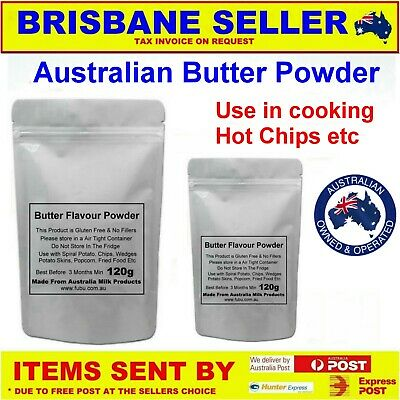 Butter Powder 120G Made From Australian Dairy - Cooking Hot Chips Popcorn Yummy