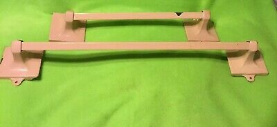 Antique ~ Pink Porcelain ~ Towel Bar Rack ~ Cast Iron ~ One 18 Inch~ One 27 Inch