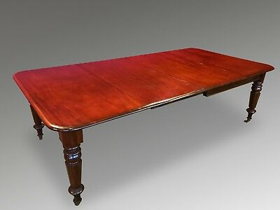 Grand Antique Victorian Cuban Mahogany Table Pro French Polished