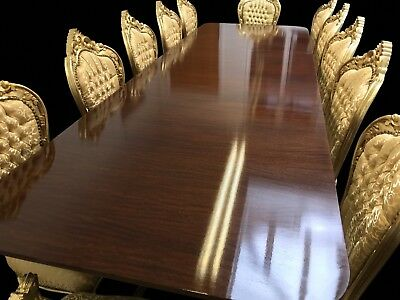 10.9ft GRAND GEORGE III STYLE TRIPLE PEDESTAL TABLE PRO FRENCH POLISHED