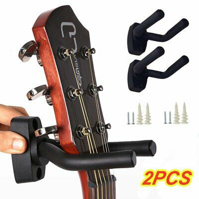 2 PCS  Guitar Wall Mount Holder Bracket Hanger For Violin Hook Display Bass