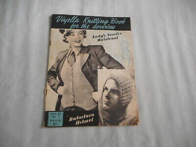 Vintage Viyella Knitting Book For The Services - 1940s knitting book