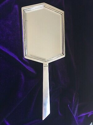 Art Deco Heavy Solid Silver Mirror Chester Hallmarks 1939